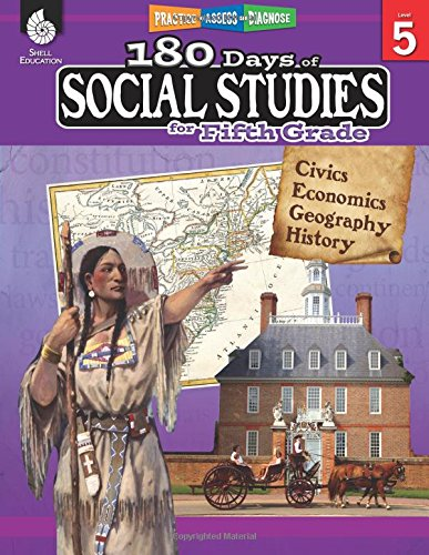 180 Days of Social Studies for Fifth Grade (180 Days of Practice) cover