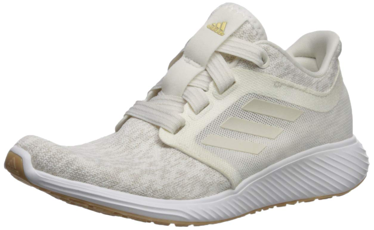 adidas Women's Edge Lux 3, raw Cloud White/Gold Metallic, 6 M US