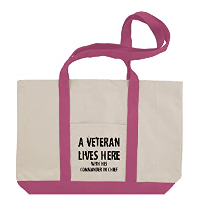 A Veteren Lives His Commander In Chief Cotton Canvas Boat Tote Bag Tote