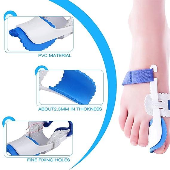 Kemei Férula para juanetes, que proporciona alivio del dolor y corrección, en un juego de 2 unidades, y que incluye almohadillas protectoras para los dedos: ...