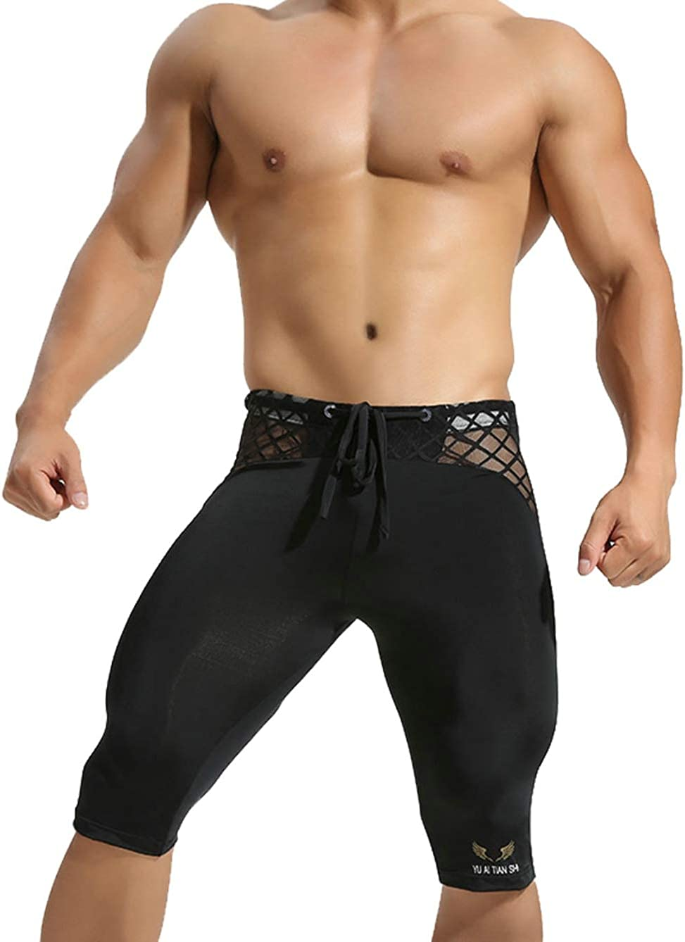 MuscleMate Hot Men's Short Sexy Skintight Transparent Men's Short for Hot Night Party Strip Club