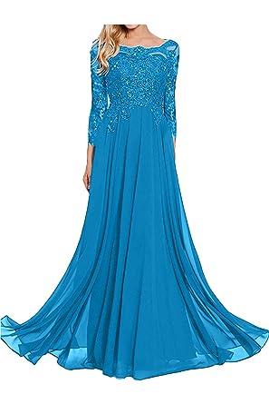 Topkleider Damen Elegant Royalblau Rund Spitze Stein Paillette Chiffon A-Linie  Abendkleider Lang Partykleider Ballkleider 2019  Amazon.de  Bekleidung 2716c0d3a7
