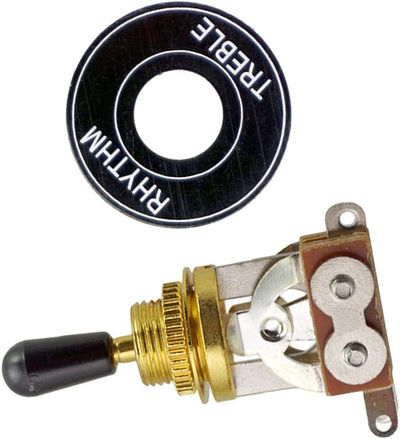 Black Tip Luthier Supply kesoto Zinc Alloy Electric Guitar Pickup Selector Switch with Aluminum Alloy Rhythm Treble Washer