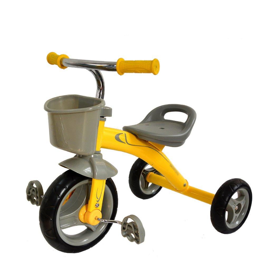 子供用トライク、三輪車の乗り物バイク、赤ちゃんの滑り自転車、おもちゃの自転車、自転車の子供、フットペダルの3つの車輪 (色 : A) B07FGFVB4KA