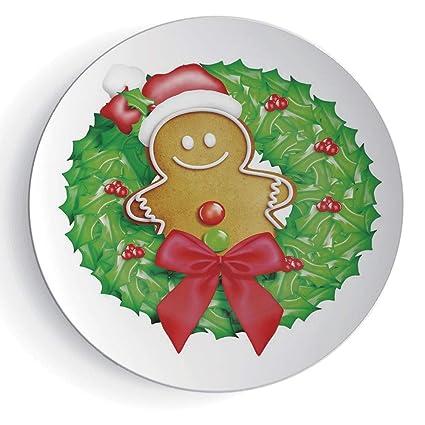 Amazon Com Iprint 7 Gingerbread Man Cartoon Christmas Wreath With
