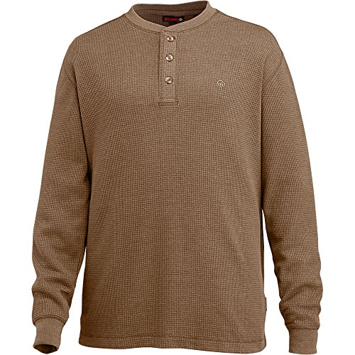 Wolverine Men's Walden Long Sleeve Henley, Bison, Large ()
