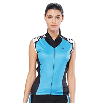 Trendyest Women Cycling Jerseys Quick Dry Sleeveless Shirts Vests(Blue)(XXXL ) cce5ede1f