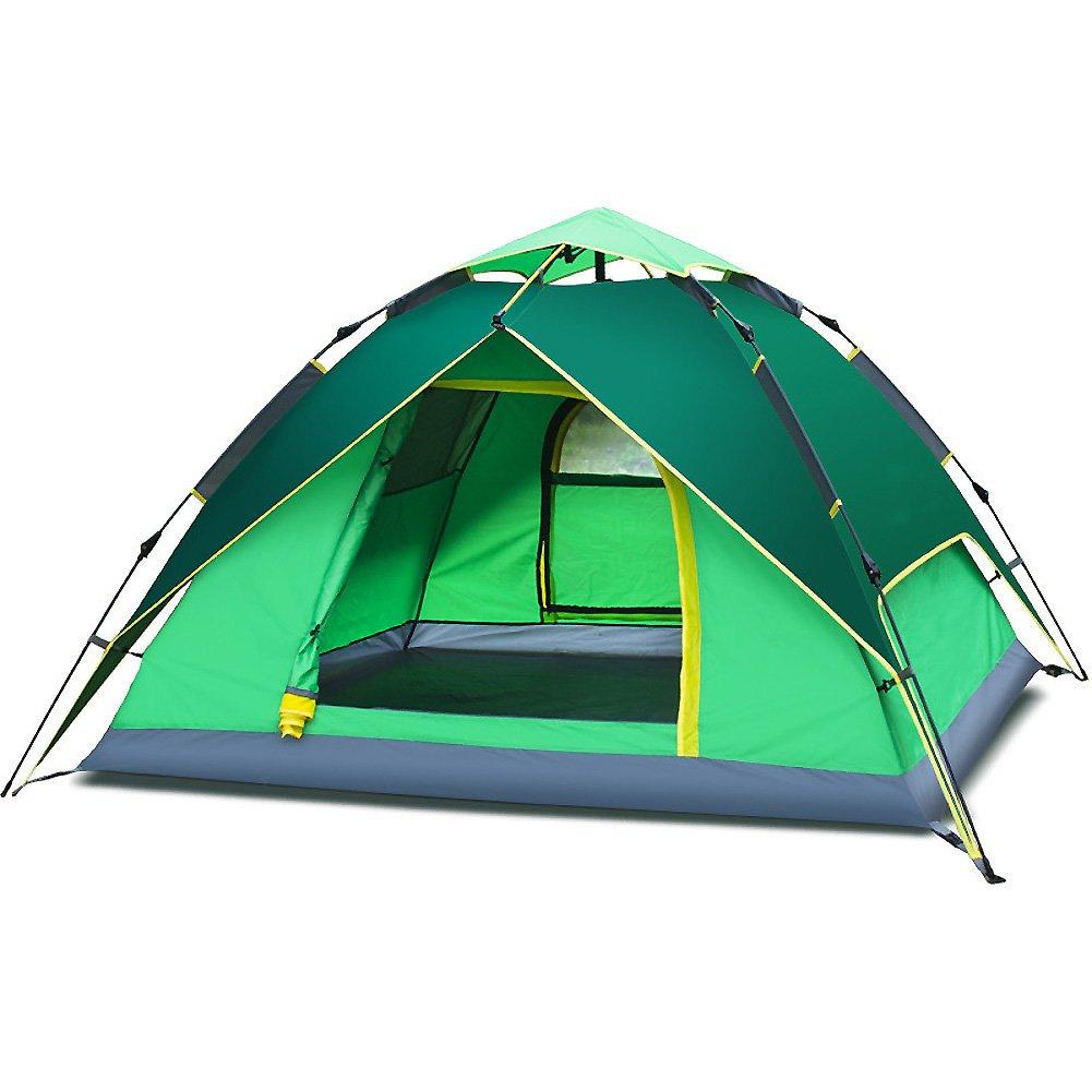 Familienzelt, 3  4 Personen Kuppelzelt Hydraulische Automatische Zelt Portable Water Resistant Double-layer Fiberglas Campingausrüstung Outdoor