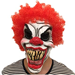 mywaxberry Halloween Party Cosplay Face Mask Adult Horror Grimace Clown Costumes Mask Hairs