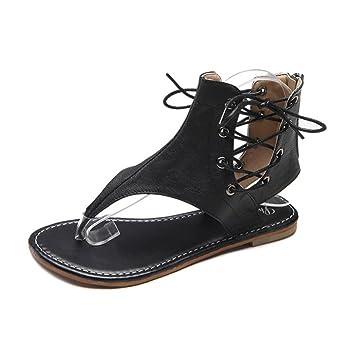 Wohnungen Sandalen Gladiator Schuhe Damen Sommer Vintage Clip Toe Thong  Leder Sandalias Beach Holiday Flip Flops 01dbaf9ad9