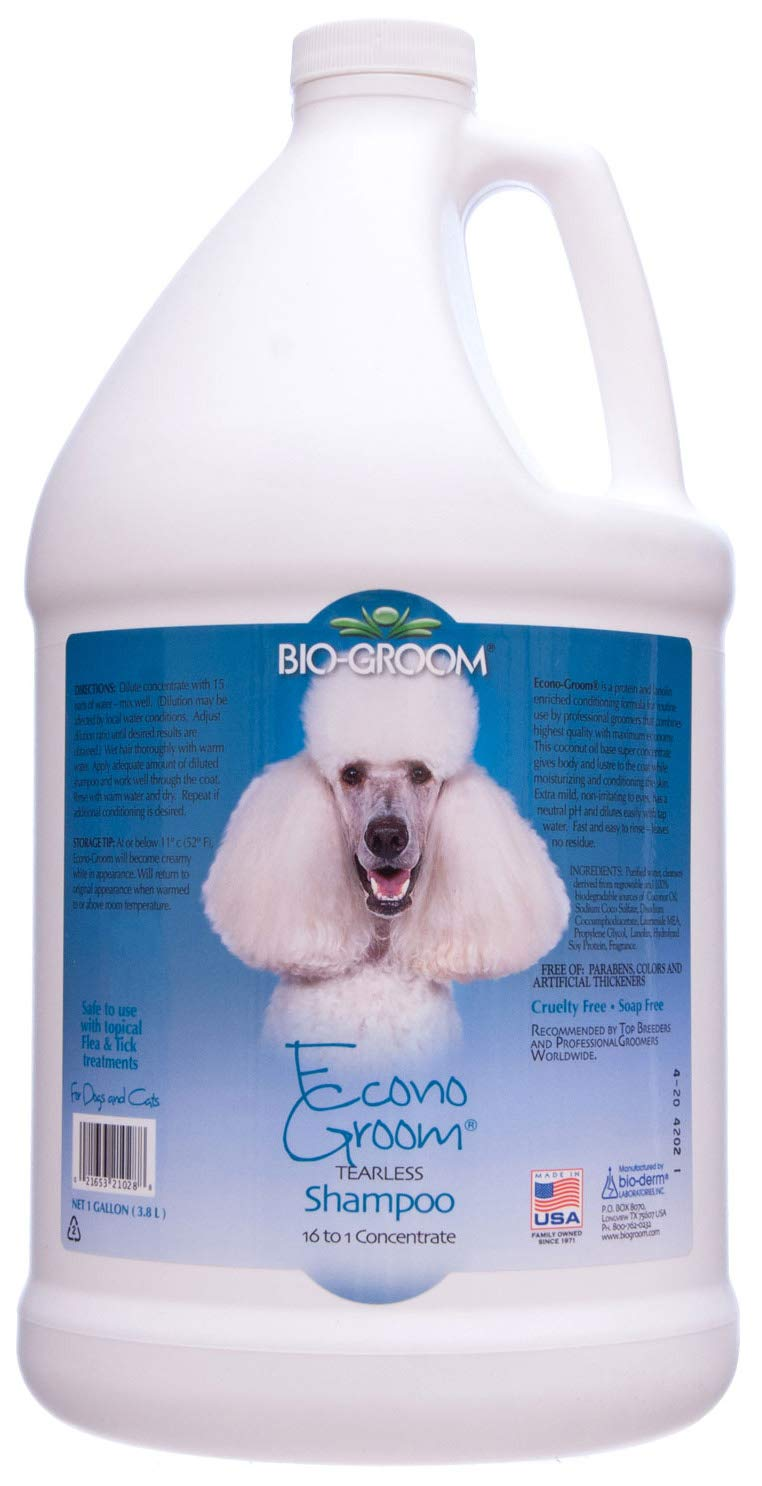 Bio-Groom Econo-Groom Dog and Cat Shampoo, 1-Gallon, Packaging May Vary by BIO-GROOM