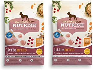 Rachael Ray Nutrish Natural Dry Dog Food (2 Pack, Little Bites for Small Dogs - Real Chicken & Veggies)