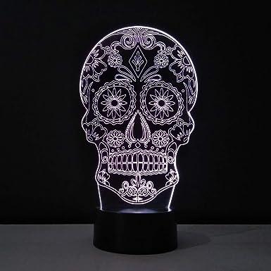 lampe tête de mort 8
