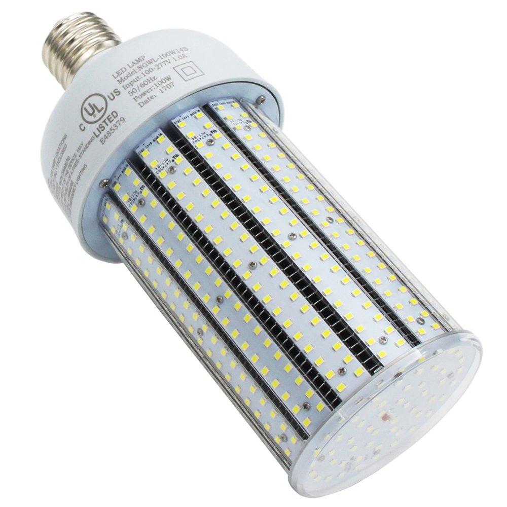 400w Hid Replacement Mogul Base Led Gym Light Corn Bulb 100 Watt Pc Wiring A Lamp Cover E39 Commercial High Bay Retrofit Daylight 5000k 120v 220v 277vac