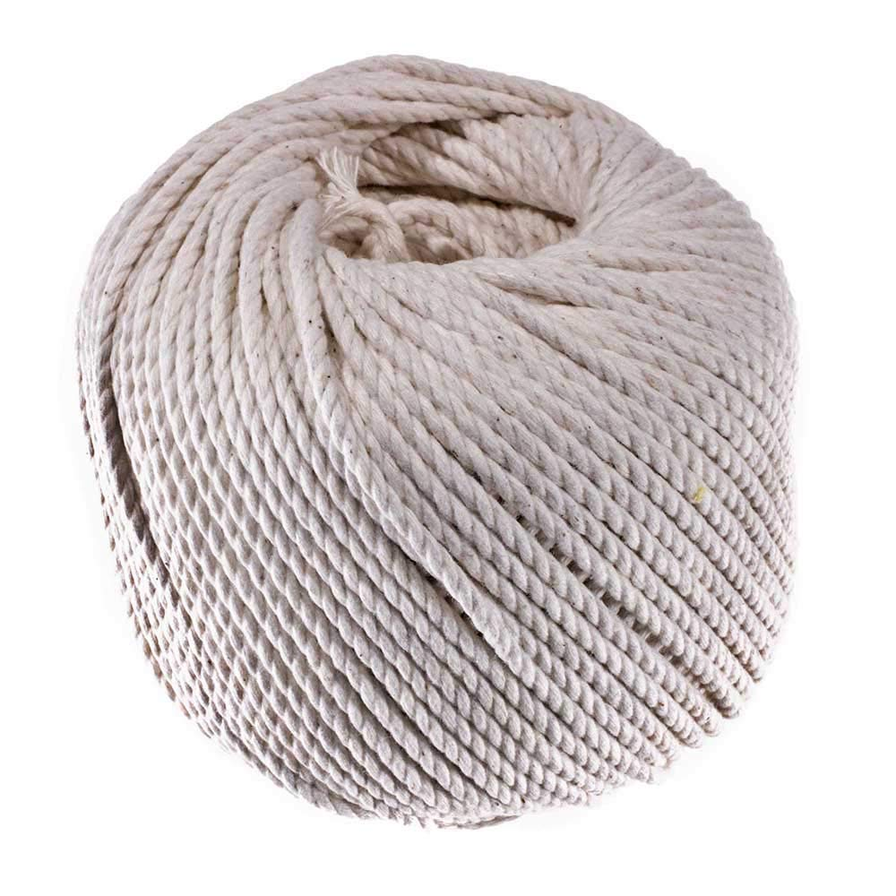 3 Strand Cable Cotton Twine (1.5 MM x 400 Feet) - Mason Line, Chalk Line, Seine Twine - Hold Knots Securely by GOLBERG G