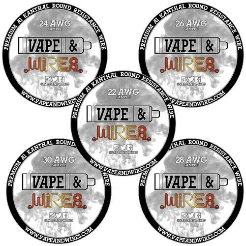 Vape and wires starter kit kanthal wire gauges awg premium a1 vape and wires starter kit kanthal wire gauges awg premium a1 resistance wire sample packs 22awg 24awg 26awg 28awg 30awg buy online in uae greentooth Gallery