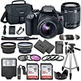 Canon EOS Rebel T6 DSLR Camera Bundle with Canon EF-S 18-55mm f 3.5-5.6 IS II Lens + 2pc SanDisk 32GB Memory Cards + Accessory Kit