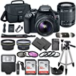 Canon EOS Rebel T6 DSLR Camera Bundle with Canon EF S 18 55mm f 3 5 5 6 IS II Lens + 2pc SanDisk 32GB Memory Cards + Accessory Kit