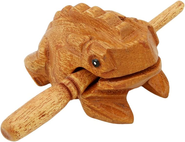 Iumer Wood Frog Guiro Musical Instrument Tone Block Animal Toy