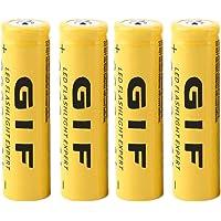 ANR 4PCS Ecológico 3.7V 18650 5800mAh Capacidad Batería Recargable de Iones de Litio para Linterna Antorcha LED Linterna…