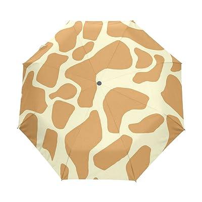 WIHVE Giraffe Tattoo Cream Umbrella Auto Open Close Windproof Compact