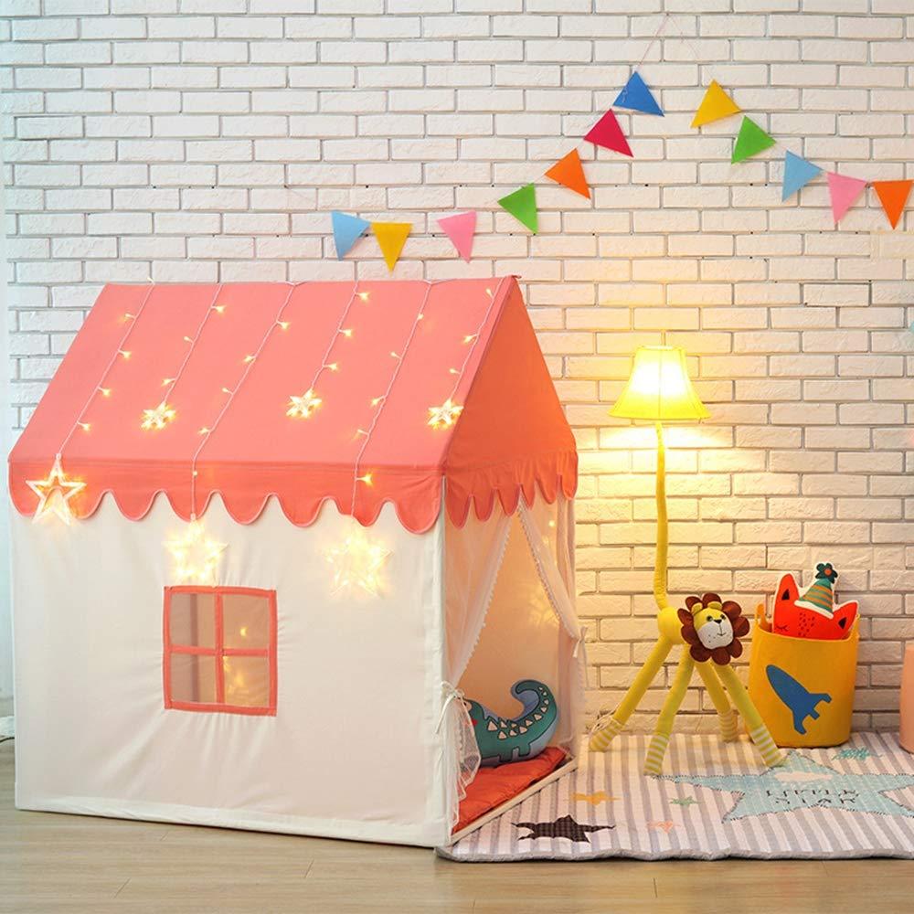Orange AUNLPB Kinderzent-Zelt für Prinzessin Pop up Castle Zelt, für Indoor and Outdoor Fun, ordentlich Falten in eine Trachtentasche, Easy Setup und Storage,Orange