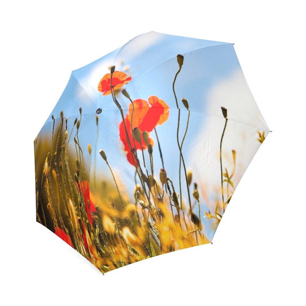 Custom Yellow Rose Compact Travel Windproof Rainproof Foldable Umbrella