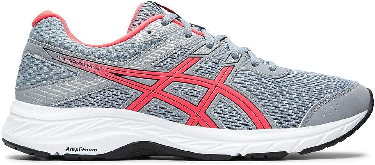 Asics Gel-Contend 6 - Zapatillas de Correr para Mujer, (Hoja Rock/Diva Rosa), 38.5 EU: Amazon.es: Zapatos y complementos