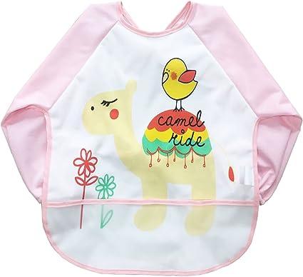 Babylaza - Delantal para niños con diseño de arte para pintar a ...