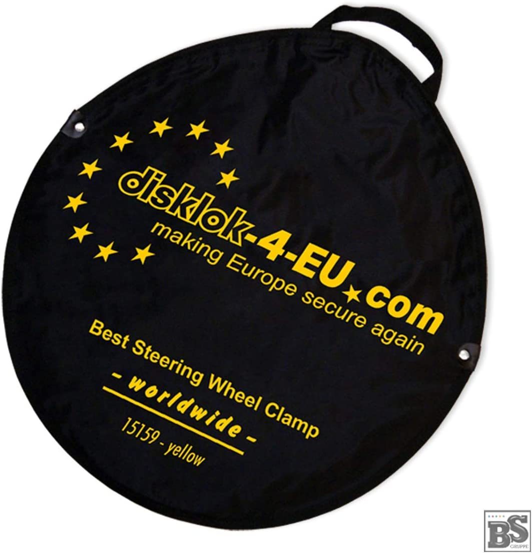 Lenkradkralle und Airbagschutz f/ür Lenkr/äder Bundle mit Lenkrad-Schutzbezug und Aufbewahrungstasche S 390 f/ür Linkslenker EU ohne UK Model 2020 BS-Disklok Gelb