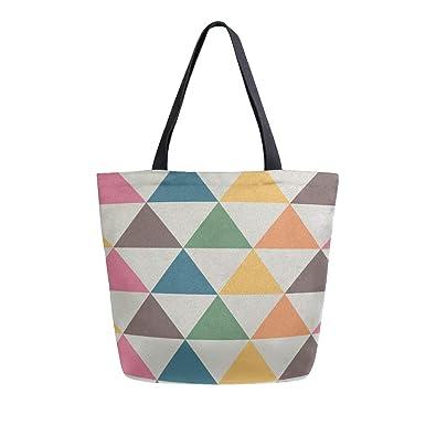 Reopx Triángulo Moda Simple Portátil Grande de doble cara ...