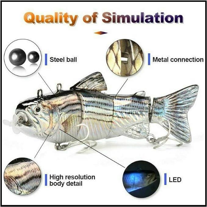 Swimming Robotic Segment Fishing Animated Swimbait K1E3 Electric Live baits