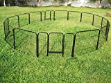 24'' Hight 16 Panel Heavy Duty PlayPen Cage Pet Dog Fence Exercise Metal Kennel