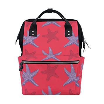 91814f7077b9 Amazon.com : MAPOLO Starfishes Diaper Backpack Large Capacity Baby ...