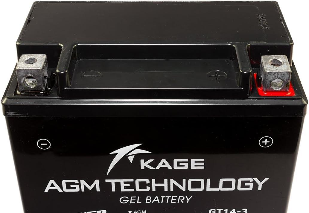 GEL-Batterie-KAGE YTX14L-BS 14AH f/ür Buell Harley Davidson