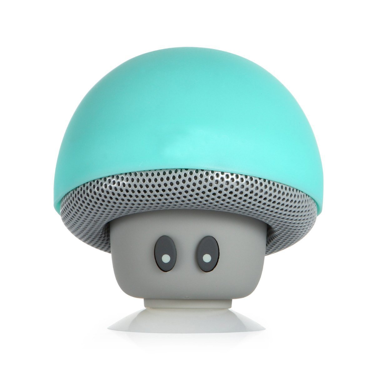 WONFAST® Portable Mini Cute Mushroom Style Bluetooth Wireless Stereo Speakers Hands Free Speakerphone with Built-in Mic for iPhone/iPad/Samsung/HTC/LG/SONY Android cellphone (Teal)