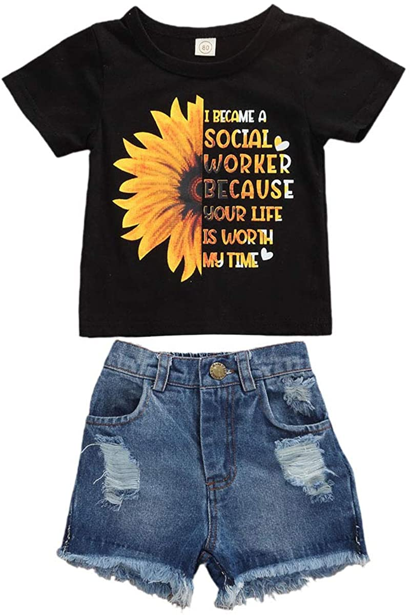 Shorts Clothing Sets LXXIASHI Toddler Baby Girls Summer Outfits Off Shoulder Halter Crop Top Bowknot Blouse
