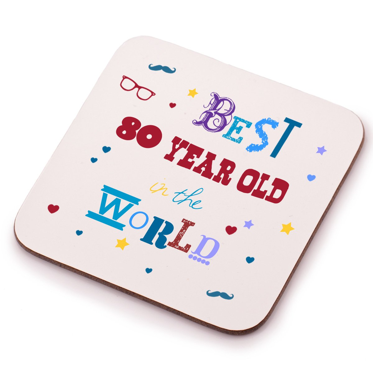 Best 80 Year Old Coaster 80th Birthday Present Gift Idea Perfect Present For Him Her Mum Or Dad