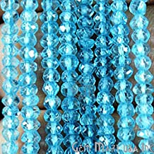 """1 Strand Blue Topaz Rondelle Micro Faceted 3-4mm 13"""" Length AAAmazing quality 100 Percent Natural (RLBT-70002)"""