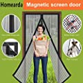 Homearda Magnetic Screen Door - Full Frame Velcro,Fits Door Up To 34x82 Inch from Homearda