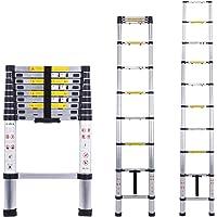 Myifan - Escalera telescópica multiusos de aluminio portátil.