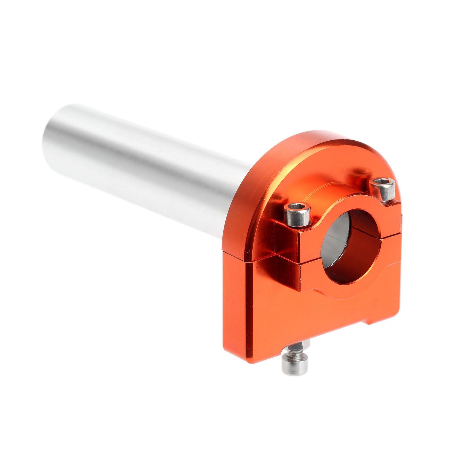 Mtsooning 1Pc Orange 7/8 CNC Aluminum Hand Grips Throttle Tube for Honda, Kawasaki, Suzuki, Yamaha, KTM