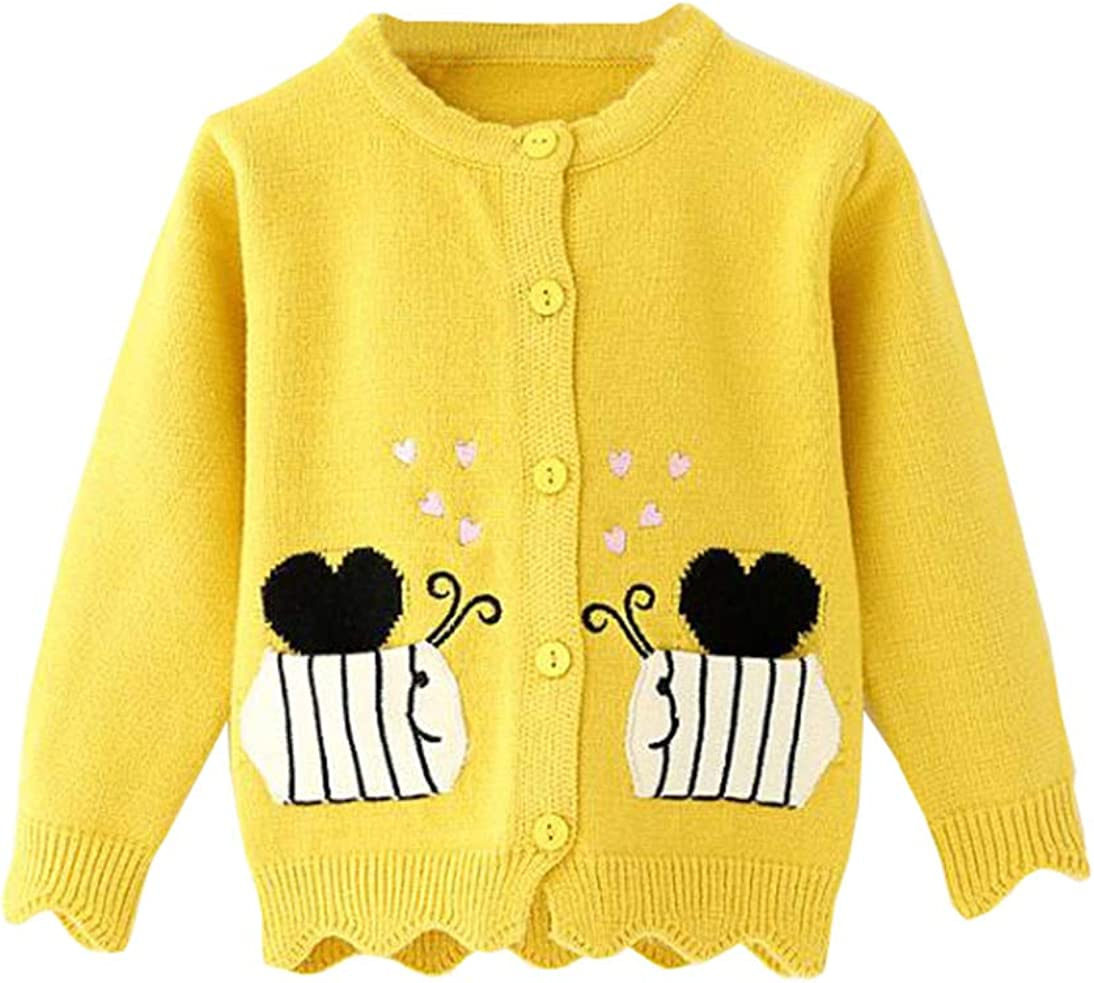 TAIYCYXGAN Baby Toddler Girls Cute Swan Cardigan Sweaters Kids Knit Sweater Jacket Winter Knitted Clothes