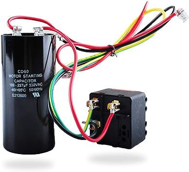 AC Hard Start Capacitor Compatible with 5-2-1 CSR-U2, Compressor Saver for  3.5-4- 5 Tons, Hvac Hard Start Kit - - Amazon.com | Hvac Capacitor Wiring |  | Amazon.com