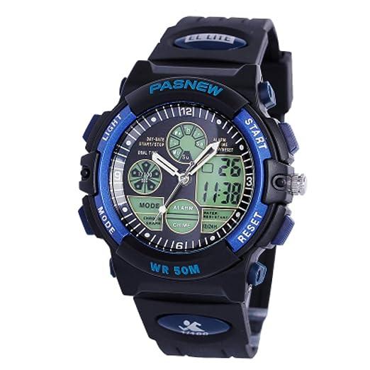 para niños Impermeable Deportes Watch,Estudiante Luminoso Análogo Digital Electrónico Watch-E: Amazon.es: Relojes