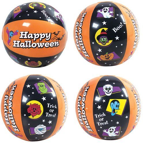 Halloween Beach Balls ~ 1DZ ~ Fun Halloween Themed Beach ball inflates ~ 16'' Festive balls ~ Trick or Treat ~ Boo ~ Happy Halloween ~ Party Birthday Decor Favors~ Festive Spooky Pool Fall Fun ~ by RN -