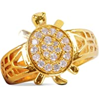Gold Plated Adjustable Kachua Tortoise Ring For For Men and Women For Good Luck, Kachua Tortoise Ring Brings Good Luck And Prosperity