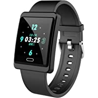 Fitness Tracker, IP68 Waterproof Smart Watch Heart Rate Blood Pressure Sleep Monitor Pedometer Calorie Tracker Sport Workout Watch