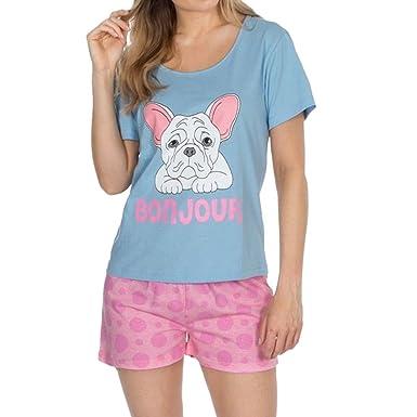 fc61f2031ce3 Forever Dreaming Cute Pugs Cupcake Pyjama Set Womens Cotton Top ...