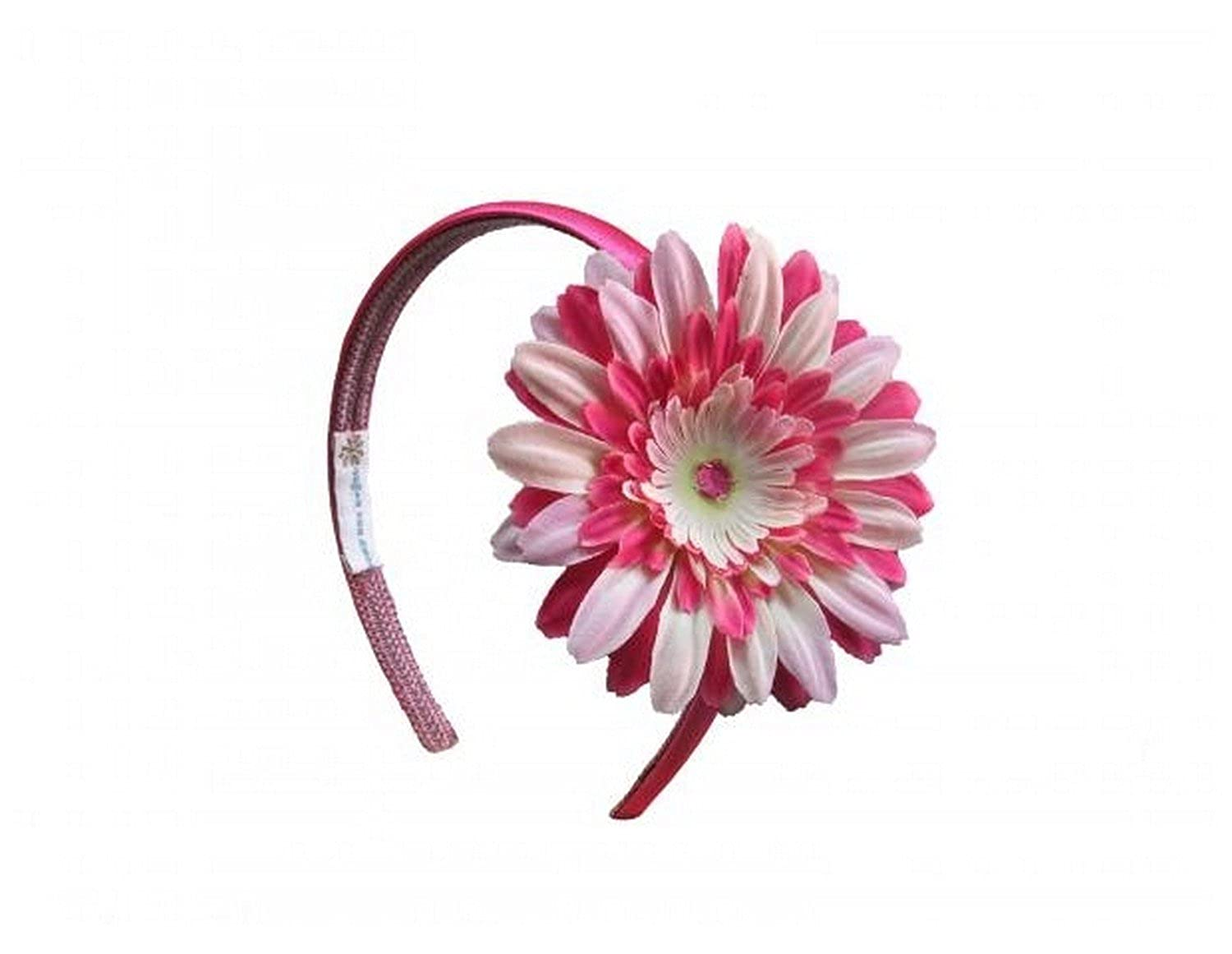 Headbands with Pink Raspberry Daisy